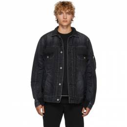 Sacai Black Denim Jacket 192445M17700202GB