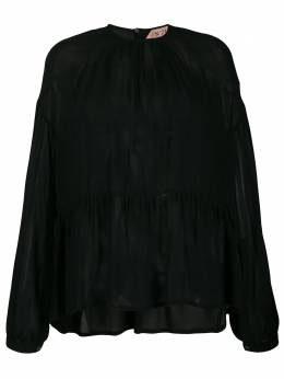 Nº21 - lightly pleated sheer blouse 05658966695566595000