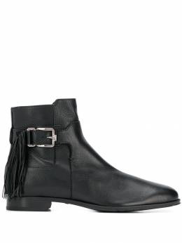 Tod's - fringed buckled ankle boots 33B6BQ36NGXB99995569