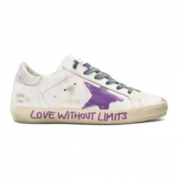 Golden Goose Deluxe Brand White Love Without Limits Superstar Sneakers 192264F12809302GB