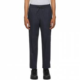 Kenzo Navy Tapered Trousers 192387M19100901GB