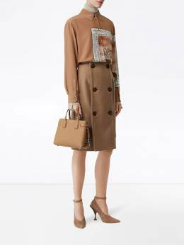 Burberry - The Small Banner in Leather and Vintage Check 93509538503800000000