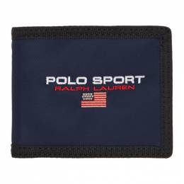 Polo Ralph Lauren	 Navy Polo Sport Bifold Wallet 192213M16400101GB