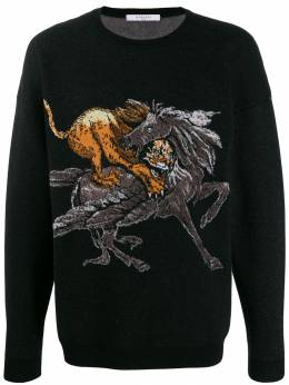 Givenchy - animal motif knitted sweater 6B65Y506669556983800