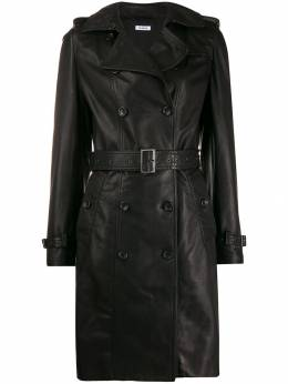 P.A.R.O.S.H. - double breasted leather coat IESD5363639556350600