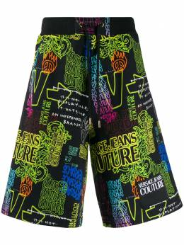 Versace Jeans Couture - logo print track shorts UB9FASL5669559965600