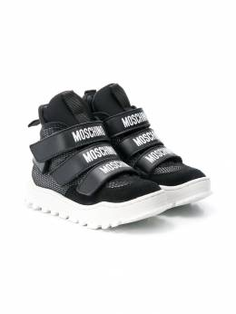 Moschino Kids - hi-top logo sneakers 06953935390000000000