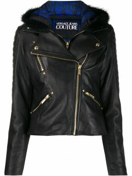 Versace Jeans Couture - hooded biker jacket UB99P563389559966000
