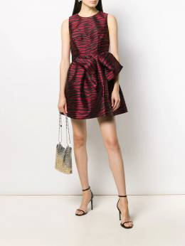 P.A.R.O.S.H. - Zebra jacquard mini dress 9696Pechi95569059000