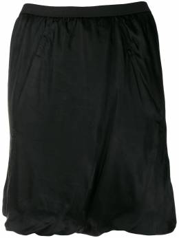 Rick Owens - ruched design skirt 9F5353O9538603300000