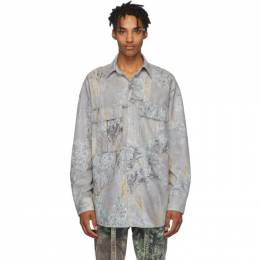 Fear Of God Grey Camo Shirt 192782M19200703GB