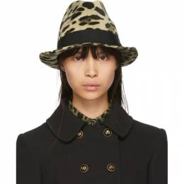 Dolce and Gabbana Brown and Tan Leopard Print Hat 192003F01500103GB