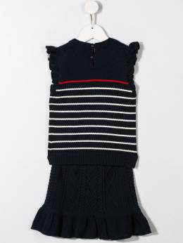 Ralph Lauren Kids - flared striped knitted dress 80366995388566000000