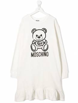 Moschino Kids - TEEN teddy bear sweatshirt dress 685LDA93966639533658