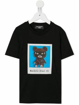 Neil Barrett Kids - футболка Masked Bear 01 30995335003000000000