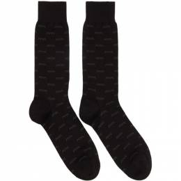 Ermenegildo Zegna	 Black Iconic Triple X Socks 192264M22000101GB