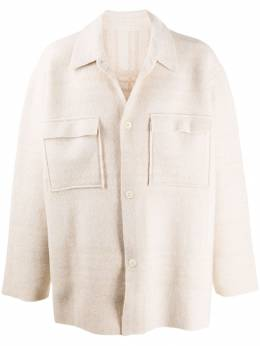Jacquemus - oversized knitted shirt jacket KN369965699095566696