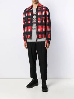 Alexander McQueen - painted effect squares jacket 833QNR93955609330000