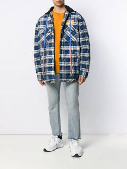Off-White - oversized hooded checked coat A069F99F336633666955