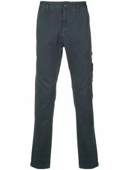 Stone Island - logo-patch cargo trousers 995395L9953383950000