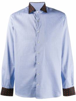 Etro - contrasting cuff and collar shirt 00360695503993000000