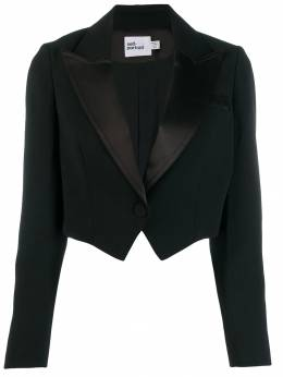 Self-Portrait - cropped fitted blazer 3659C955069800000000