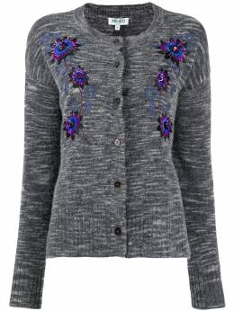 Kenzo - floral embroidered cardigan 0CA58685595398056000