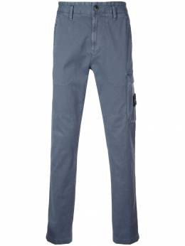 Stone Island - logo-patch cargo trousers 995395L9953383380000