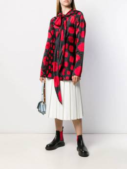 Marni - pussycat bow printed blouse A6068A6TV33695560696