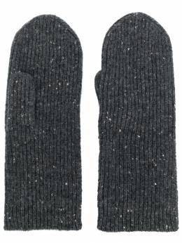 Isabel Marant - speckled ribbed gloves 66399A696A9553563800