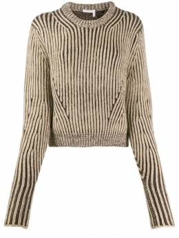 Chloé - cropped knitted jumper 99WMP965369555693600