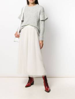 Red Valentino - ruffled sleeve knitted sweater KCB985LV953363630000