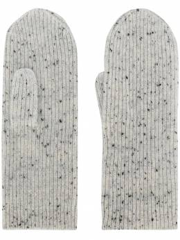 Isabel Marant - speckled ribbed mittens 66399A696A9553568000