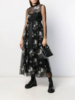 Red Valentino - floral embroidered tulle dress VA63Z5KM955695590000