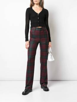 R13 - checked straight-leg trousers W3939066955360360000