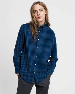 Рубашка Regular Fit Winter Twill Buffalo Check Shirt Gant 42608