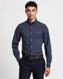 Рубашка Slim Fit Tech Prep Micro Dot Broadcloth Shirt Gant 42758