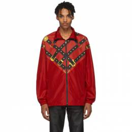 Versace Red Bondage Track Jacket 192404M18000202GB