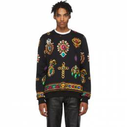 Versace Black Jewel Sweatshirt 192404M20401001GB
