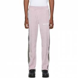 Palm Angels Pink Chenille Track Pants PMCA054F194690072501