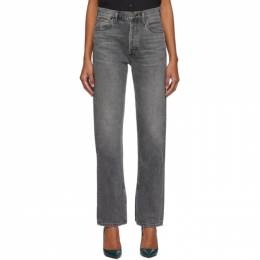 Citizens of Humanity Grey Campbell High-Rise Relaxed Straight Long Jeans 192030F06902906GB