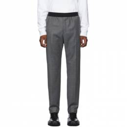 Helmut Lang Grey Flannel Pull-On Trousers 192154M19100804GB
