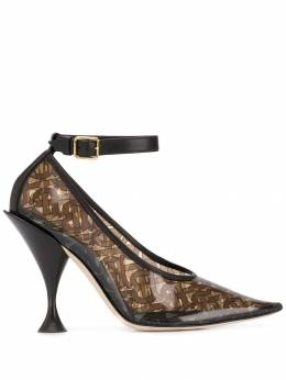 Burberry - monogram pointed pumps 63609556333300000000