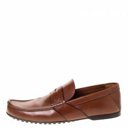 Louis Vuitton	 Brown Leather Penny Loafers Size 42.5 225899