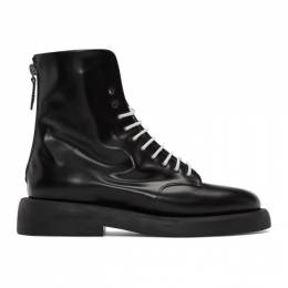Marsell Black Gomme Polacchino Gommello Boots MWG470 170