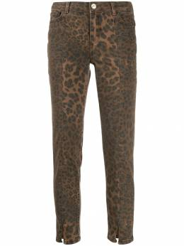 Twin-Set - leopard print cropped trousers MP009995599566000000