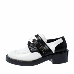 Balenciaga Monochrome Leather Buckle Detail Derby Size 38.5