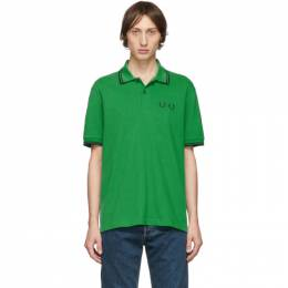 Comme des Garcons Homme Deux Green Fred Perry Edition Pique Polo Comme des Garcons Homme Deux 192058M21402503GB