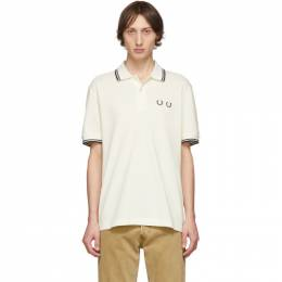 Comme des Garcons Homme Deux White Fred Perry Edition Pique Polo Comme des Garcons Homme Deux 192058M21402402GB