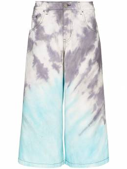 Liam Hodges - tie-dye long denim shorts 9509BLU9386869900000